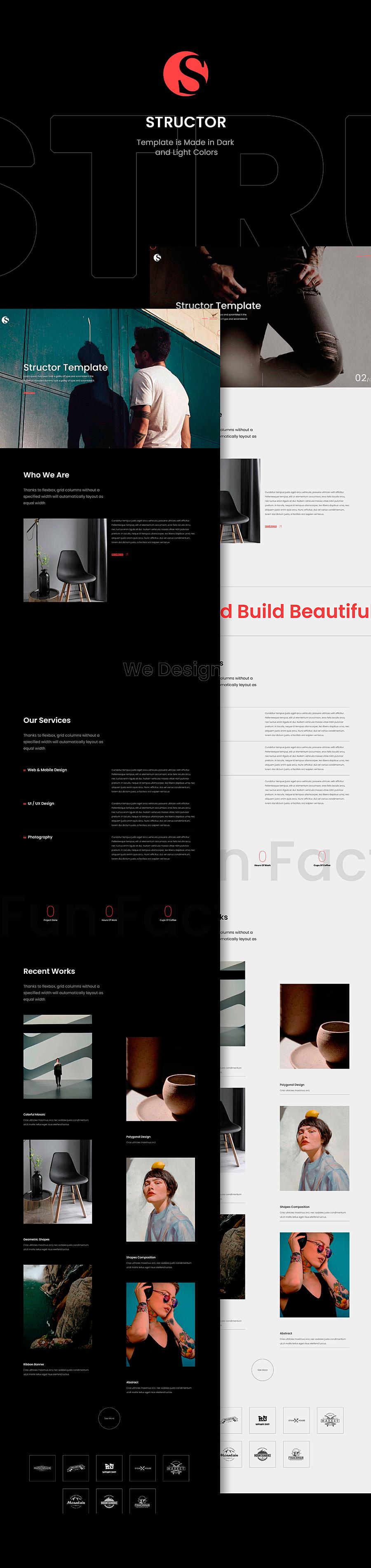 Structor - Creative Portfolio HTML Template - 1