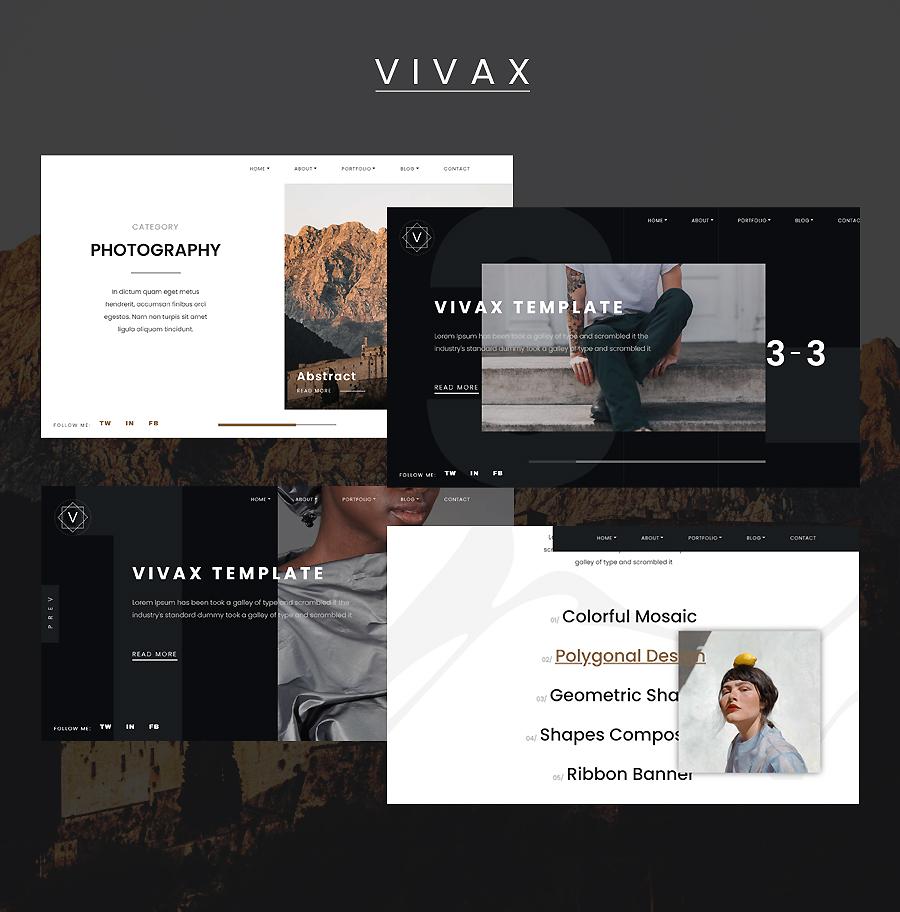 Vivax - Creative and Modern HTML5 Portfolio - 1